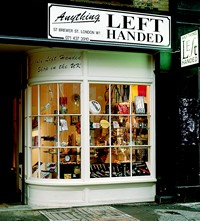 Anything Left-Handed, 57 Brewer St, London W1