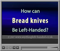 Left handed bread knife video