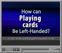 Left handed playing cards video
