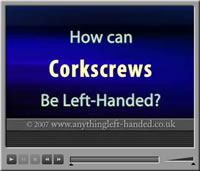 Left handed corkscrew video