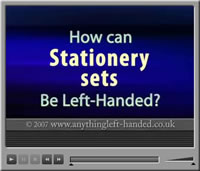 Left handed stationery sets video