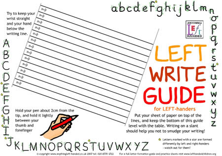 Left Write writing guide
