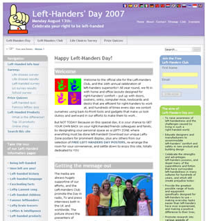 Left Hander Day website