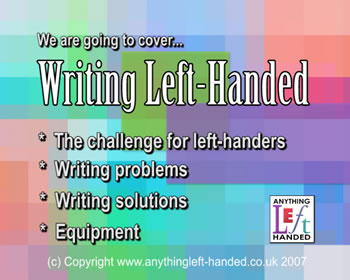 Writing left handed video